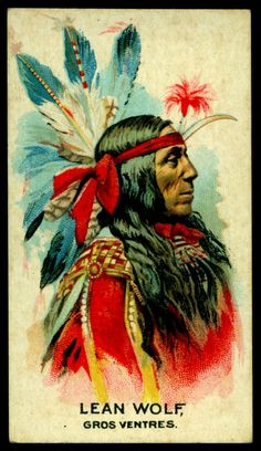 Cigarette Card - Indian Chief, Lean Wolf | British American … | Flickr
