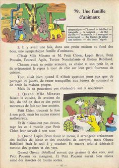 Manuels anciens: Tranchart, Levert, Rognoni, Bien lire et comprendre Cours élémentaire (1963) : grandes images French Class, French Lessons, English Class, French Learning Books, Teaching French, French Expressions, Learn French Fast, French Worksheets, French Grammar