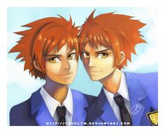 Ouran - Twins by Lokklyn.deviantart.com on @deviantART