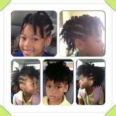 Natural hair styles for little girls.