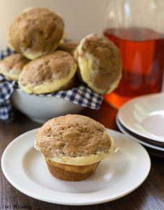 Cream Cheese-Filled Carrot Zucchini Muffins -Yummy, healthy muffins made with lots of veggies, #Greekyogurt, and #wholewheatflour