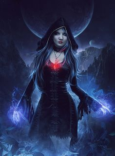 Witch - Digital Art by Whendell Souza L Dark Fantasy Art, Fantasy Artwork, Fantasy Angel, Fantasy Women, Fantasy Girl, Dark Art, Fantasy Characters, Female Characters, Witches Of East End