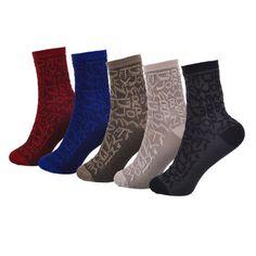 JUMEAUX 5 Pairs/Lot Warm Winter Cotton Soft Funny Socks Women Letter Stereoscopic Pattern Heap Socks New 2017 High Quality