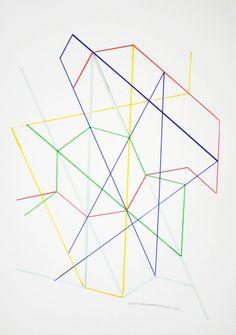 Monir Shahroudy Farmanfarmaian, variation on a Hexagon 14, 1976 Pencil on paper51 x 35.5 cm Courtesy of the artist and The Third Line, Dubai