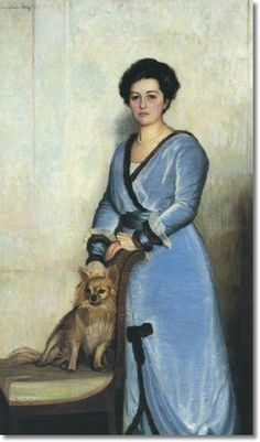 painting by Lilla Cabot Perry an American artist who worked in the Impressionist style.