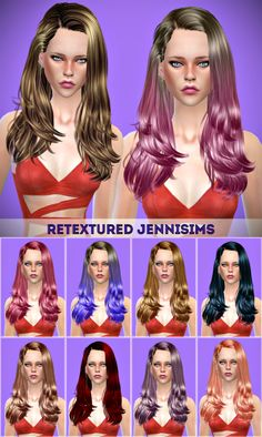 "sssvitlans: "" Downloads sims 4: Newsea Gisele Hair retexture by JenniSims Download """