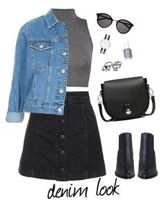 """""""Untitled #41"""" by brandonaddict on Polyvore featuring Topshop, WearAll, Yves Saint Laurent, rag & bone, Essie, Spring and denim"""
