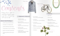 I like this table of contents because the colors are very appealing and the layout is easy to understand. Table Of Contents Design, Design Table, Newsletter Layout, Magazine Design Inspiration, Layout Design, Design Ideas, Graphic Design Typography, Editorial Design, Presentation