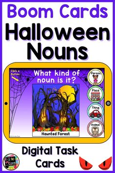 Here's a FUN DIGITAL Halloween activity for your classroom or for e-learning. These Boom digital task cards are perfect for kindergarten, first grade
