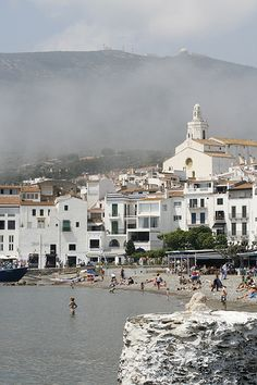 Cadaques with some fog, Alt Empordà Catalonia, Barcelona Places Around The World, Travel Around The World, Around The Worlds, Hidden Places, Places To See, Cadaques Spain, All About Spain, Barcelona, Europe Destinations