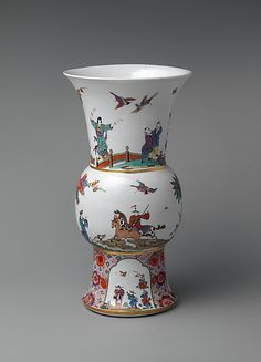 Meissen Manufactory (German, 1710–present). Vase (one of a pair), ca. 1734-36. Painting in the style of Johann Ehrenfried Stadler (German, born Dresden 1702). After a print by Peter Schenk. German, Meissen. The Metropolitan Museum of Art, New York. Gift of Irwin Untermyer, 1964 (64.101.147)