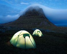 Tents beneath Suilve