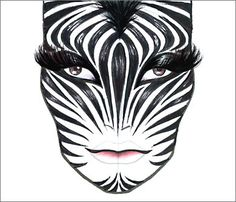 MAC Halloween Face Chart...Zebra!