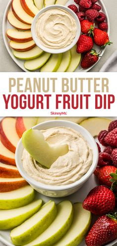 Do you love peanut butter yogurt dip? Ours has the perfect amount of sweetness, savory flavor, and overall deliciousness without packing on calories! Healthy Snacks For Kids, Healthy Desserts, Healthy Recipes, Appetizer Recipes, Snack Recipes, Appetizers, Eating Well, Clean Eating, Low Calories