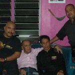 Carnet de stage Silat Fatani 2013 - Maître Raban entouré par Cikgu Halim, Cikgu Zaidi et notre ami Rocker Jo Ker ;)