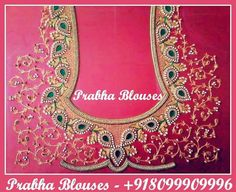 Q Hand Work Embroidery, Indian Embroidery, Embroidery Designs, Embroidery Art, Blouse Designs Silk, Bridal Blouse Designs, Blouse Patterns, Indian Wedding Fashion, Indian Bridal