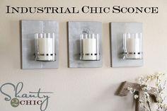 DIY Industrial chic sconces