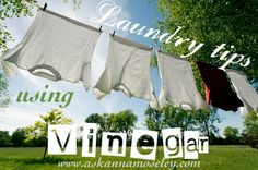 Great tips for how to use Vinegar to help with the laundry.