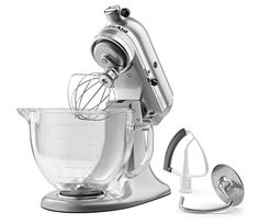 KitchenAid KSM105GBCMC 5 Qt. Tilt Head Stand Mixer With Glass Bowl And Flex  · Kitchenaid MixerKitchenaid ArtisanArtisan MixerCobalt Blue ...