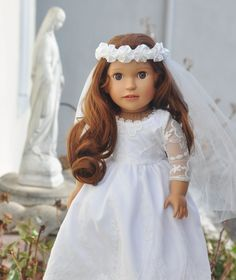 Introducing St. Therese's First Holy Communion Gown http://www.dollsfromheaven.com/dfh-blog/thereses-first-holy-communion-gown