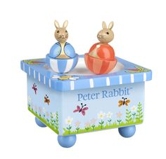 The Orange Tree Toys Peter Rabbit Music Box is a beautiful wooden wind-up music box. Beatrix Potter, Bunny Dance, Peter Rabbit Gifts, Baby Musical Toys, Orange, Wooden Music Box, Rabbit Baby, Rabbit Toys, Gift Wrapping Services