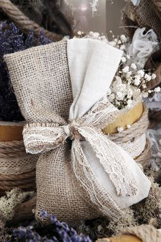 There is something unique when you buy a wedding dress… Burlap Crafts, Burlap Wreath, Handmade Dresses, Sachets, Reusable Tote Bags, Soap, Bridal, Sewing, Wedding Dresses