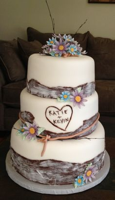 Country style wedding cake