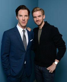"""Benedict Cumberbatch & Dan Stevens - """"The Fifth Estate"""" - Toronto International Film Festival, September 2013 - Photo by Larry Busacca (Getty Images)"""