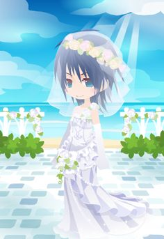 アクアさんブーケかぶってほとんどドレス見えなくなってしまったーアクアのウェディングドレスはマーメイドラインがいいな