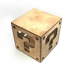 Lasercut Super Mario Bros Question Mark 4in Box with by GameVetz