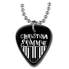"Christina Grimmie ""Black Pick necklace"" $10"