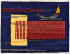 "Katie Hickey, ""Moon Over Albers,"" on view in TWiNE 2014: A Contemporary Tapestry Exhibition, at URI Feinstein Providence Campus Gallery, July 8 – August 8, 2014."