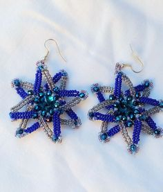 Excited to share the latest addition to my #etsy shop: Octagon Blue Sea Star Earrings Handmade Beaded Dream Star Jewelry Selma Dreams Blue Dream Catcher Drop Earrings Abstract Galaxy Space http://etsy.me/2F4Xeal  #bluestar #handmadeearrings #octagonearrings #transparentearrings #galaxyearrings #spaceearrings #doublestarjewelry #earrings #navystarearrings #dreamcatcher #selmadreams #abstractearrings #eightstarearrings