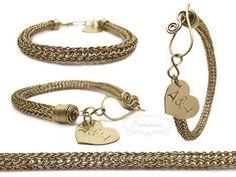 Personalized viking knit bracelet
