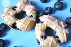 Baked Blueberry Donuts [Vegan]