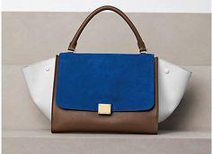 Celine Handbag-love cobalt blue