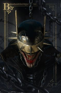 Collab with the great and mighty He used my Batman Who Laughs model as a base to create this sinister piece of artwork. Batman Metal, Joker Batman, Joker Art, Batman Art, Batman And Superman, Joker And Harley, Batman Detective Comics, Batman Drawing, Arte Dc Comics