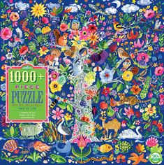 Puzzle your way through the Tree of Life. 1000+ Piece Jigsaw Puzzles are a great activity for the whole family to enjoy. The Tree of Life is inspired by a medieval tapestry. Illustrated by Jennifer Orkin Lewis.