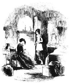"""""""Bleak House""""- illustration- Miss Jellyby"""