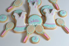 Tennis cookies by Memesweets on Etsy, $35.00