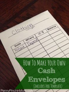An easy way to live a cash lifestyle is to use envelopes to track your spending. Find out how to make your own with this FREE template!!!!