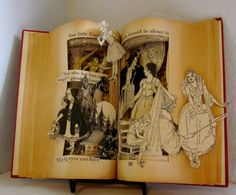 Altered Book Famous Fairytales by Raidersofthelostart on Etsy, $250.00