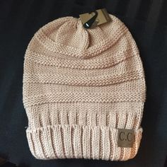 C.C Beanie Slouchy Dusty Rose colored beanie! Accessories Hats