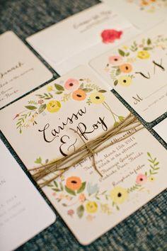 Boho Chic Floral Wedding Invitation Set by ChelsiLeeDesigns. Garden Wedding Invitations, Floral Invitation, Floral Wedding Invitations, Wedding Stationary, Wedding Paper, Invitation Design, Invitation Cards, Boho Wedding, Wedding Cards