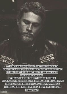 I think this is the most real thing i've ever read... Love SOA