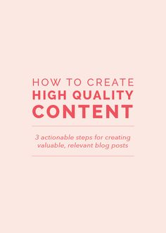 Not sure where to begin with creating content? Sharing 3 actionable steps here: