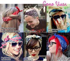 papo serio demulher: Como usar lenço no cabelo