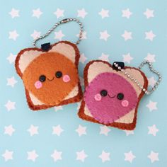 Items similar to Peanut Butter and Jelly Sandwich Felt Charms on Etsy Better Together Jack Johnson, Softies, Felting, Jelly, Peanut Butter, Charms, Plush, Unique Jewelry, Handmade Gifts