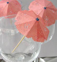 Rosa Cocktail Regenschirme Getränk Sonnenschirm von TrayChicParty