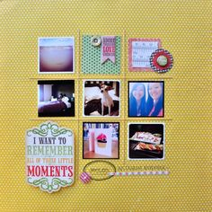 Gorgeous layout from Amy Tan using instagram photos! I always need more ideas for these!